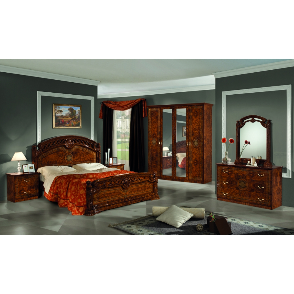foto chambre a coucher chambre beige et rouge avec